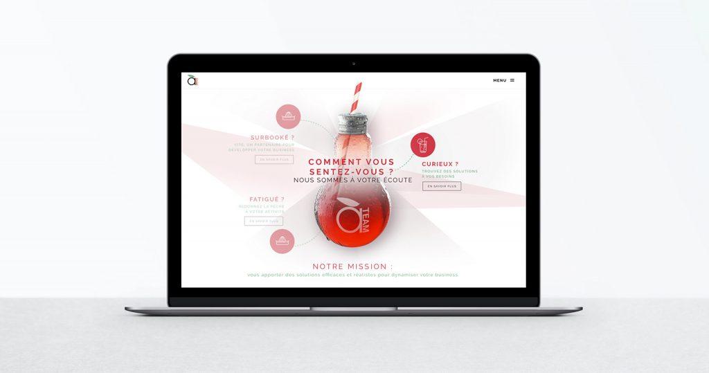 vue de site, travail de webdesign