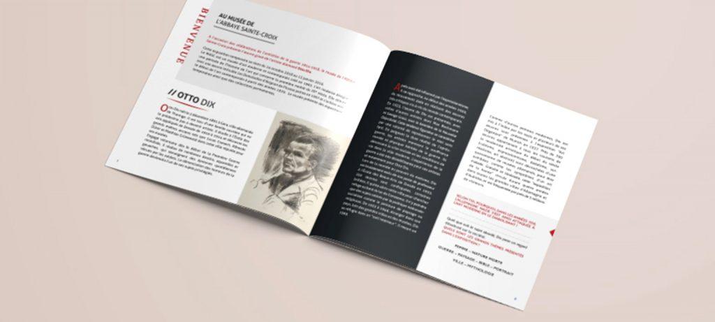 Intérieur de la brochure Exposition Otto DIX