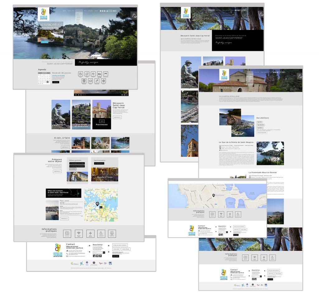 web design des page du site Saint Jean Cap Ferrat