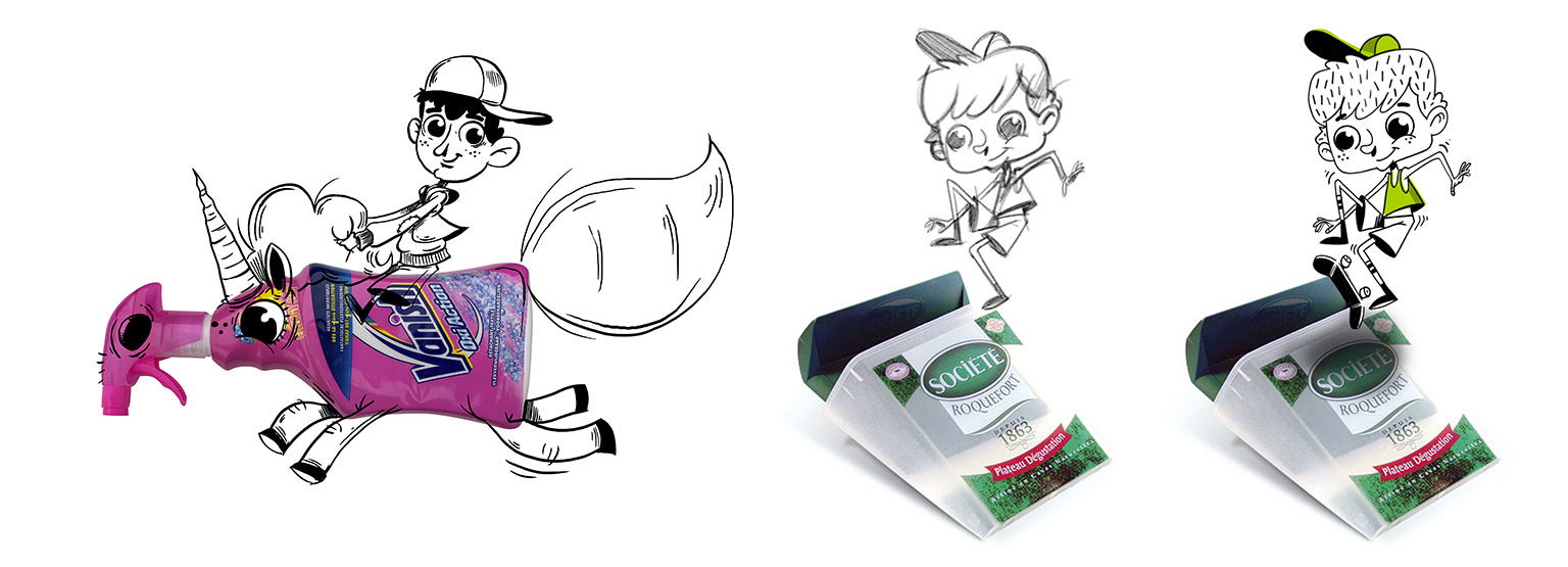 dessin objets recyclés