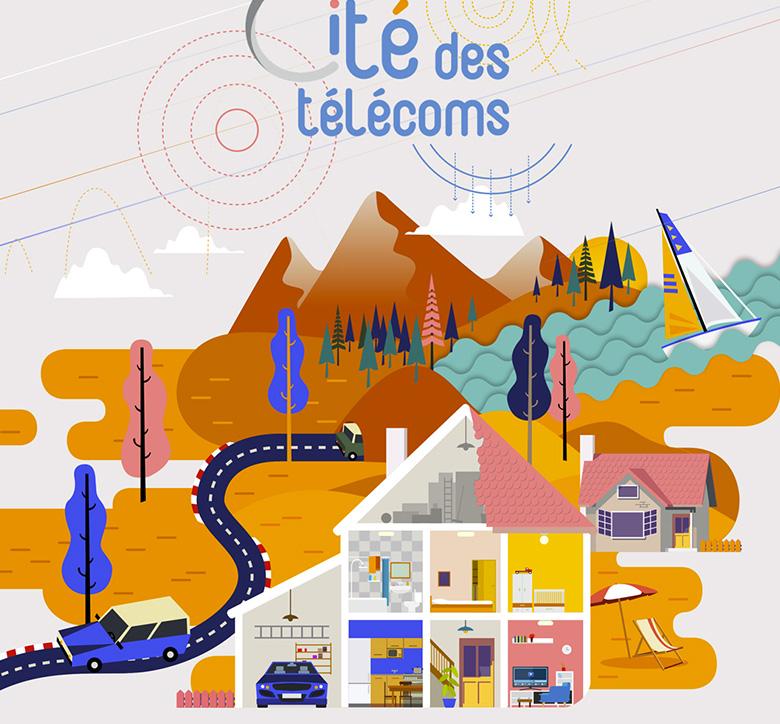 Illustration réalisée par le YAk pour la Cité des Télécoms
